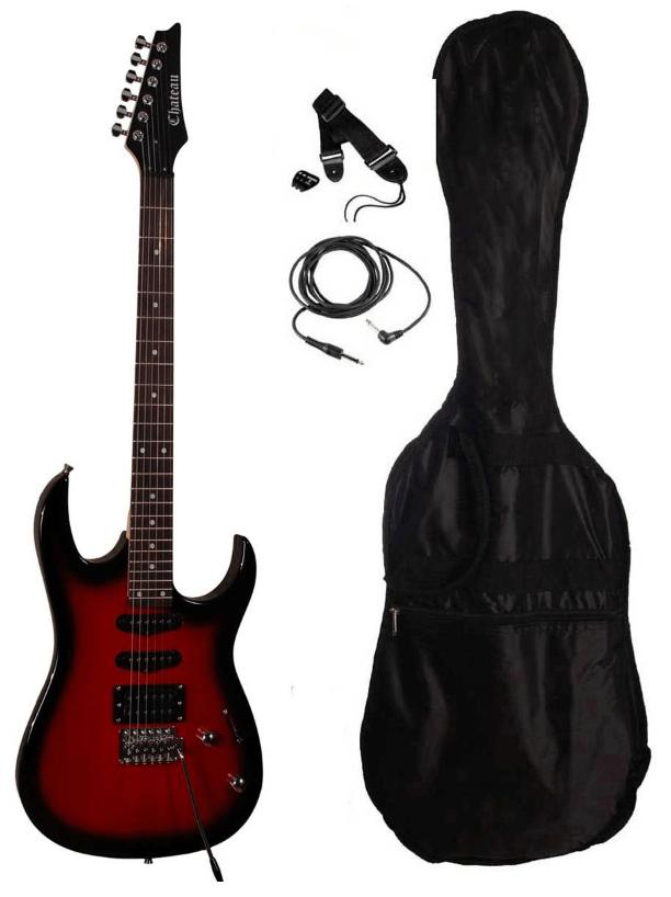 Chateau DH25 MWR el-guitar rød - en allround el guitar med 5 forskellige lyde
