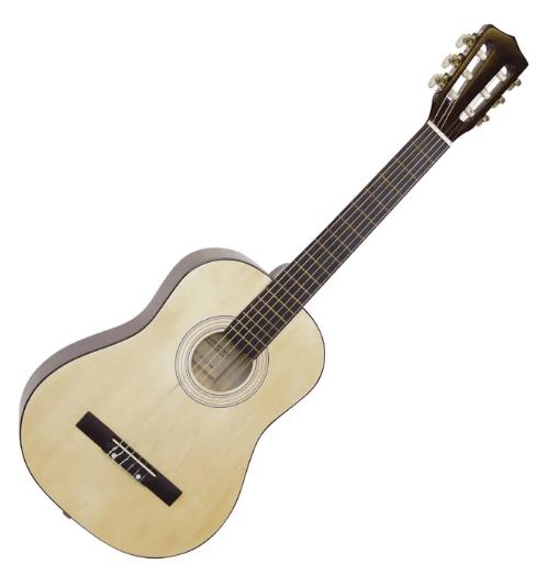 DiMavery AC-303 klassisk spansk guitar ½, natur - et godt førstegangskøb til dit barn