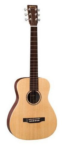Martin LX1E Little Martin western-guitar natur - en halv-akustisk rejsemodel i ypperste kvalitet