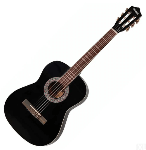 Sant Guitars CJ-36-BK spansk børne-guitar sort - en juniorguitar med det fulde begyndersæt