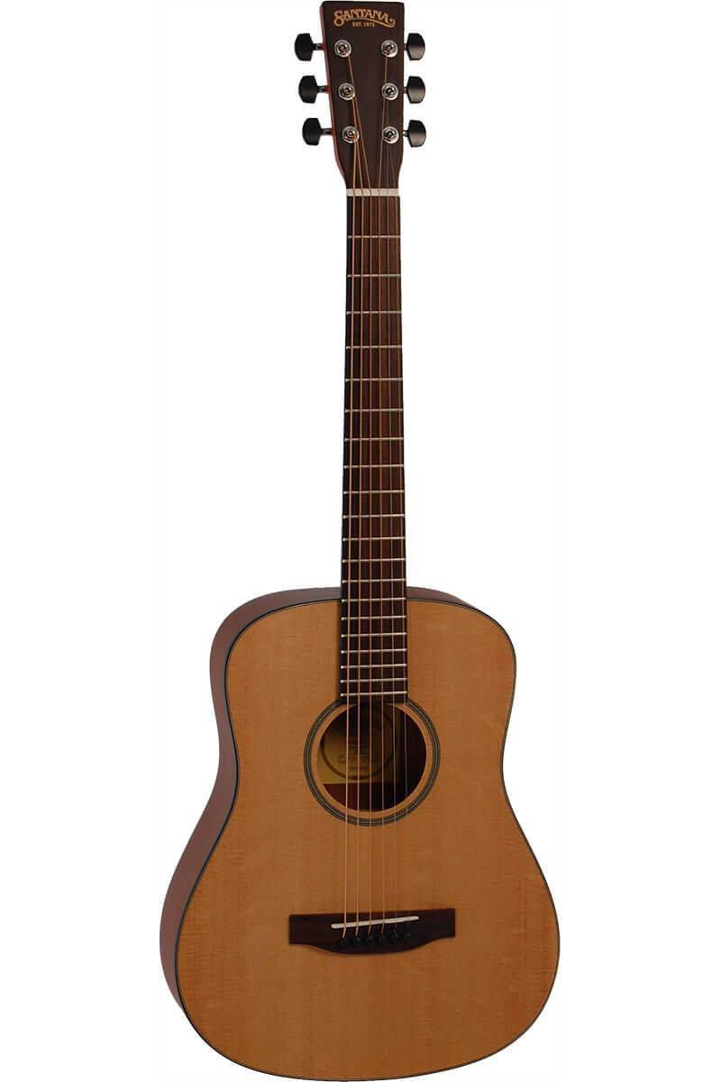Santana ST-200B western-guitar, shorty natur - brugervenlig og robust guitar i dansk design