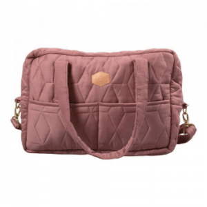 Quiltet Pusletaske Mommybag – (Wild Rose)