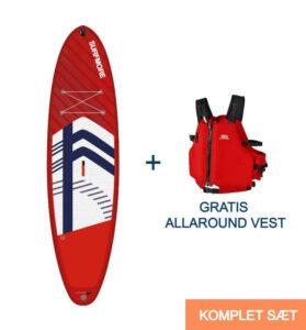 Paddleboard pakke / SUP board og redningsvestSURFMORE-Allround-Family-Edition-11'2-x-33
