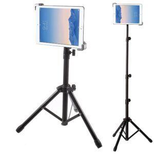 Tripod til iPad Tablet – Aluminium & Justerbar længde