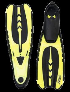 Cruz Koh Samui svømmefødder til dykning – gul – til dykkerferien
